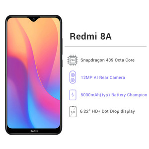 "Global Version Xiaomi Redmi 8A 32GB ROM 2GB RAM Mobile Phone Snapdragon 439 Octa Core 6.22"" 5000mAh 12MP Camera Smartphone"