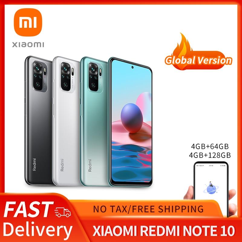 Xiaomi Redmi Note 10 Global Version 4GB 64GB/128GB Xiaomi SmartPhone Snapdragon 678 5000mAh 33W AMOLED Display 48MP Quad Camer