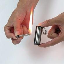 1 шт. пожарный соответствует Портативный Нападающий зажигалка на открытом воздухе модная постоянного кремневый поджигатель бутылок брелок...
