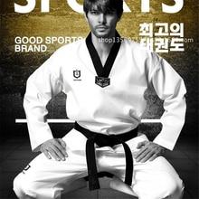 Taekwondo-Uniform Judo Karate Suit Belt Dobok TKD Training Kids White Men Women Adult