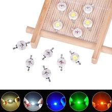 10 pces 1w diodo emissor de luz led de alta potência chip smd quente branco vermelho verde azul amarelo para lâmpada downlight spotlight