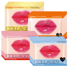 Lip Masker Collageen Pads Patch voor Lip Patches Hydraterende Exfoliërende Lippen Voller Pomp Melk Honing Essentials Lippen Care(China)