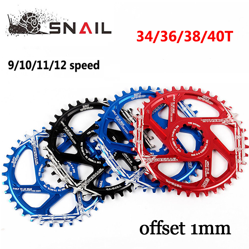 MTB GXP Chainring Mountain Bike Chain Ring Narrow Wide Aluminum Alloy CrankSet <font><b>32T</b></font> 34T 36T 38T Cycling Parts image