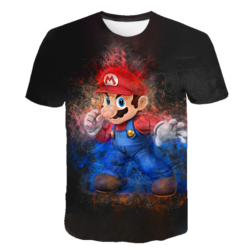 Summer 2020 New Harajuku Style Classic Game Super Mario T-shirt 3D Printed T-shirt Personality Hip-hop T-shirt S-6xl