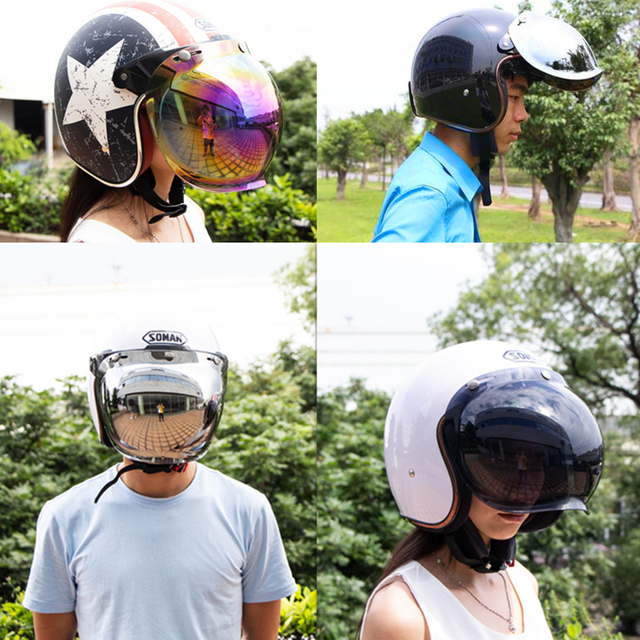 Open Face Helmet Visor Motorcycle Helmet Bubble Visor Casco Moto Visor Lens Capacete Bubble Shield Motorcycle Helmets Accessorie 1