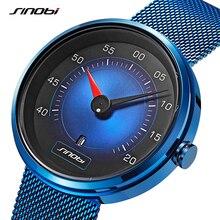 SINOBI Men Watch Man Car Dashboard Creative Watches Fashion Speed Sports Drive Calendar Stainless Steel Quartz Wristwatches