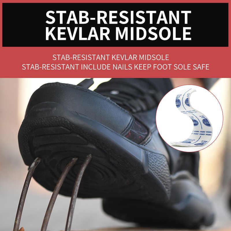 Çelik burun erkekler güvenlik ayakkabıları hafif rahat iş sneakers erkek botları nefes açık ayakkabı ROXDIA marka RXM166