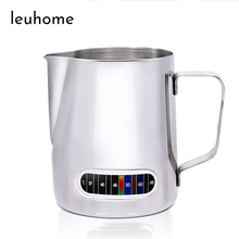 Frothing-Jug Art-Cappuccino Espresso Latte Barista Pitcher 600ml-Milk Coffee Stainless-Steel
