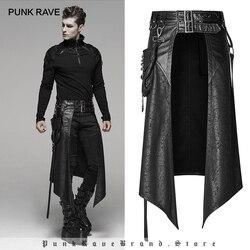 PUNK RAVE männer Punk Abnehmbare Seite Stereo Tasche Halb Rock Bühne Leistung Party Club Cosplay Männer Rock Hosen