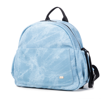 Fashion Large Capacity Baby Diaper Bag Stylish Stroller Backpack for Nappy Changing Blue Maternity Travel Baby Bag for Mother