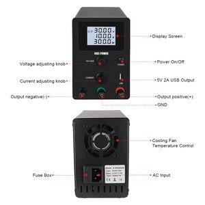 Einstellbare DC Schalt Labor Netzteil Labor Spannung Regler Variable Power Liefert 30V 10A 120V 3A Bank USB