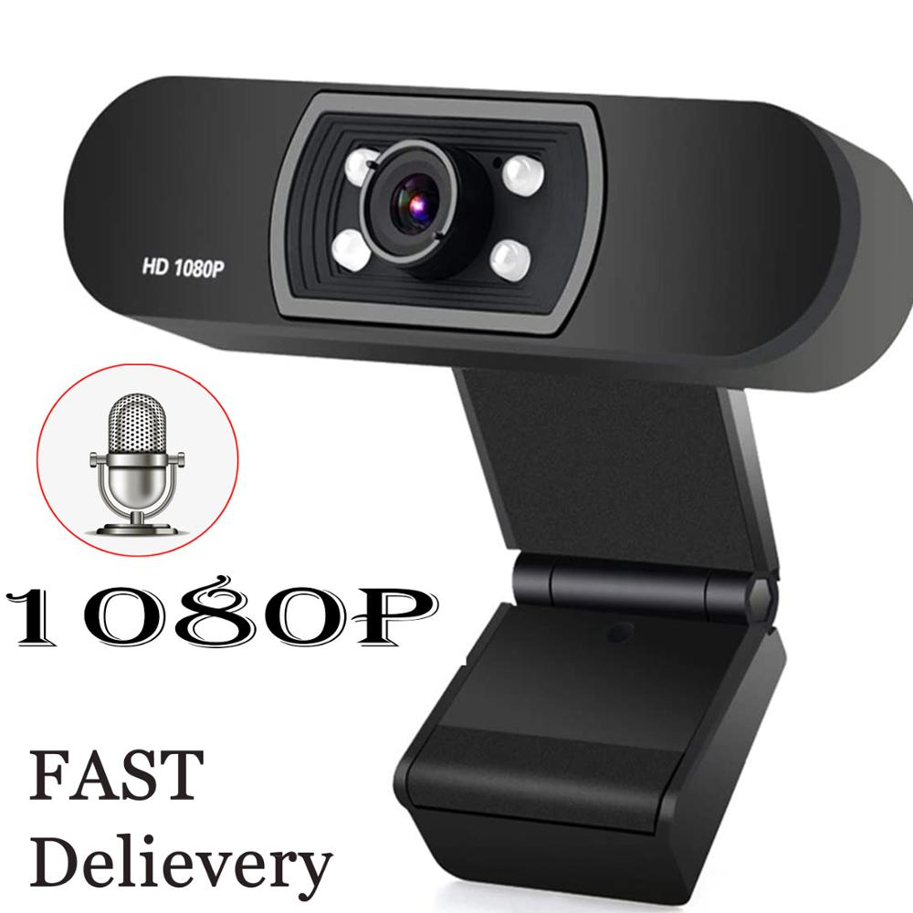 Full HD 1080P Computer Webcam Built-in Microphone Auto Focus High-end Video Call Computer Peripheral Camera for PC Laptop