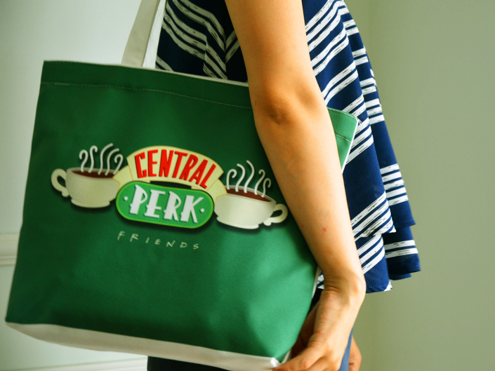 Friends Central Perk Green Fashion Women Girls Handbags Book Phone Shoulder Bag