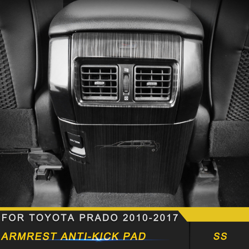For Toyota Land Cruiser Prado 150 2010-2019 Car Back Air Vent Outlet Panel Cover Trim Frame Sticker Interior Accessory
