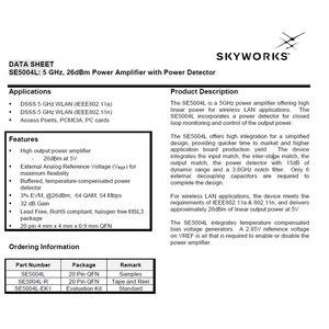 Image 5 - Lusya 5.8Ghz 2W amplificateur linéaire SE5004L 5800MHz FPV transmission dimage amplificateur RF signal à distance amplificateur de puissance T1183