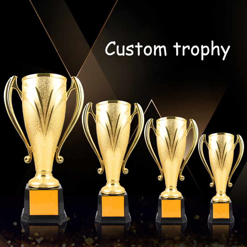 Customize Plating  Plastic Trophy Souvenir Team Individual Sports Competition Awards School Academy Contest Prize Winner Cup