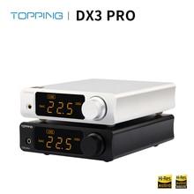 ציפוי DX3 פרו HIFI DAC USB Bluetooth 5.0 אוזניות מגבר אודיו מפענח XMOS XU208 AK4493 DSD512 קואקסיאלי Spdif USB DAC amp