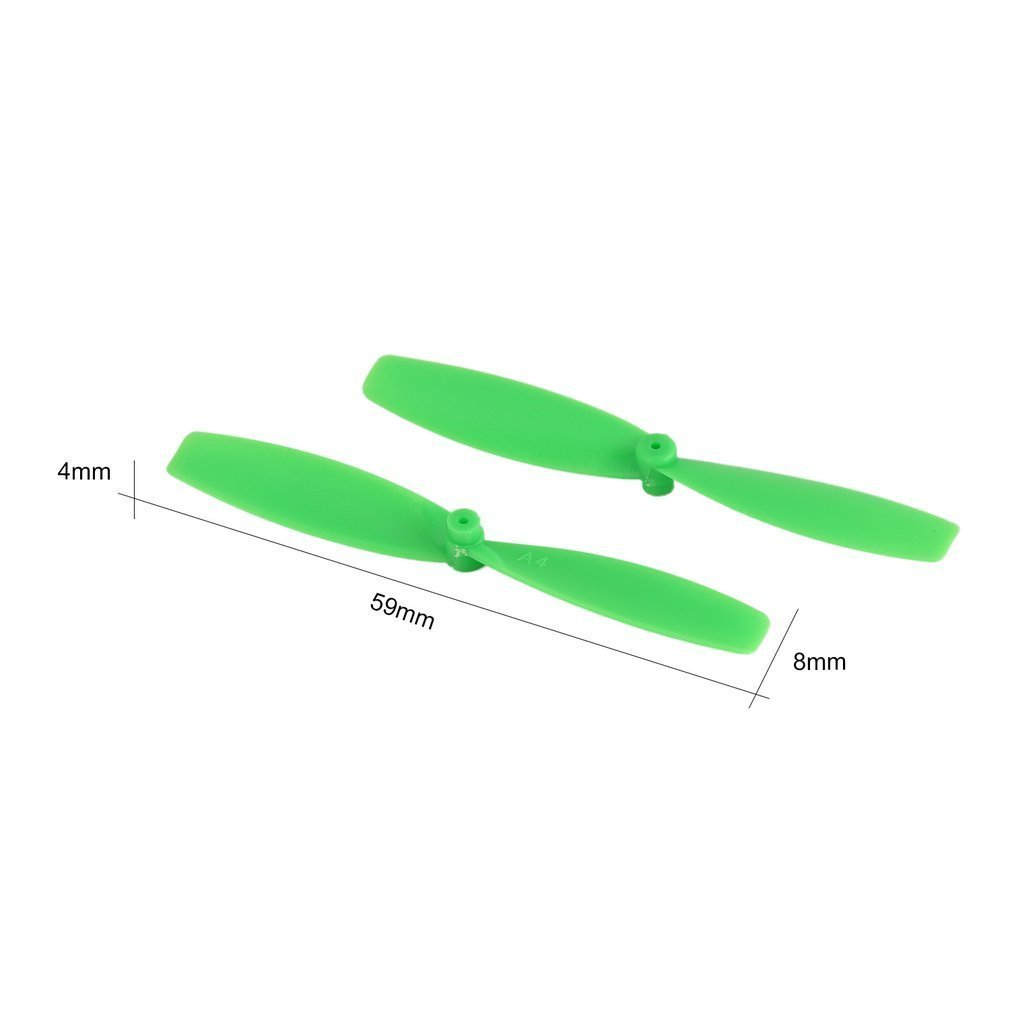 Купить с кэшбэком 8 Pairs CW/CCW Propeller Props Blade for RC 60mm Mini Racing Drone Quadcopter Aircraft UAV Spare Parts Accessories Component