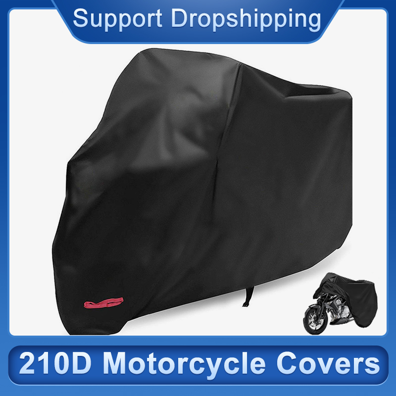 Snow Defence Motorcycle Covers 210D Outdoor Waterproof UV Bike Cover Electric Bicycle Covers Motor Rain Coat Dust Suitable