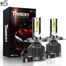 цена на FUXUAN Car Headlight H4 H7 LED Canbus COB 100W 12000LM H1 H3 H8 H9 H11 9005 HB3 9006 HB4 880 881 H27 Auto Fog Light 6000K 12V