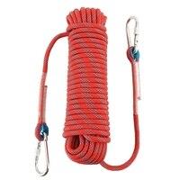 Qualidade corda de escalada ao ar livre corda de corda de escalada ao ar livre corda de escalada corda de escape lifeline comprimento da corda estática 20 m diâmetro 10 m