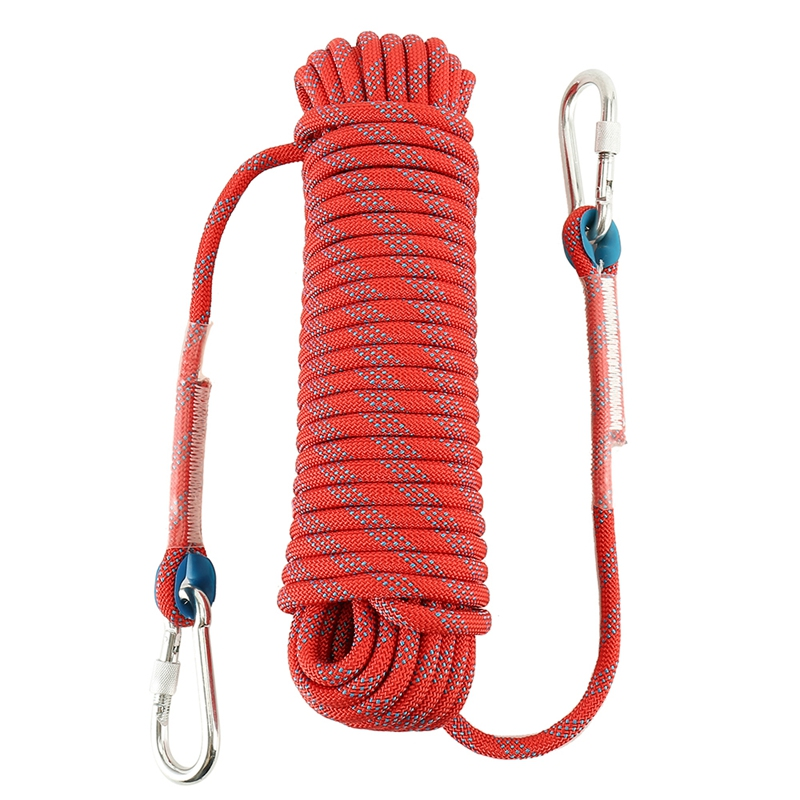 Quality Outdoor Climbing Rope Nylon Rope Outdoor Climbing Rope Climbing Rope Escape Lifeline Static Rope Length 20M Diameter 10M