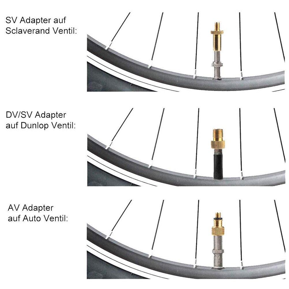 Kongnijiwa Bike Dual Head Valve Adapter della Gomma della Bicicletta Aria Testa Bicicletta gonfiatore della Pompa Valvola Capo connettore Bike Accessories Pump