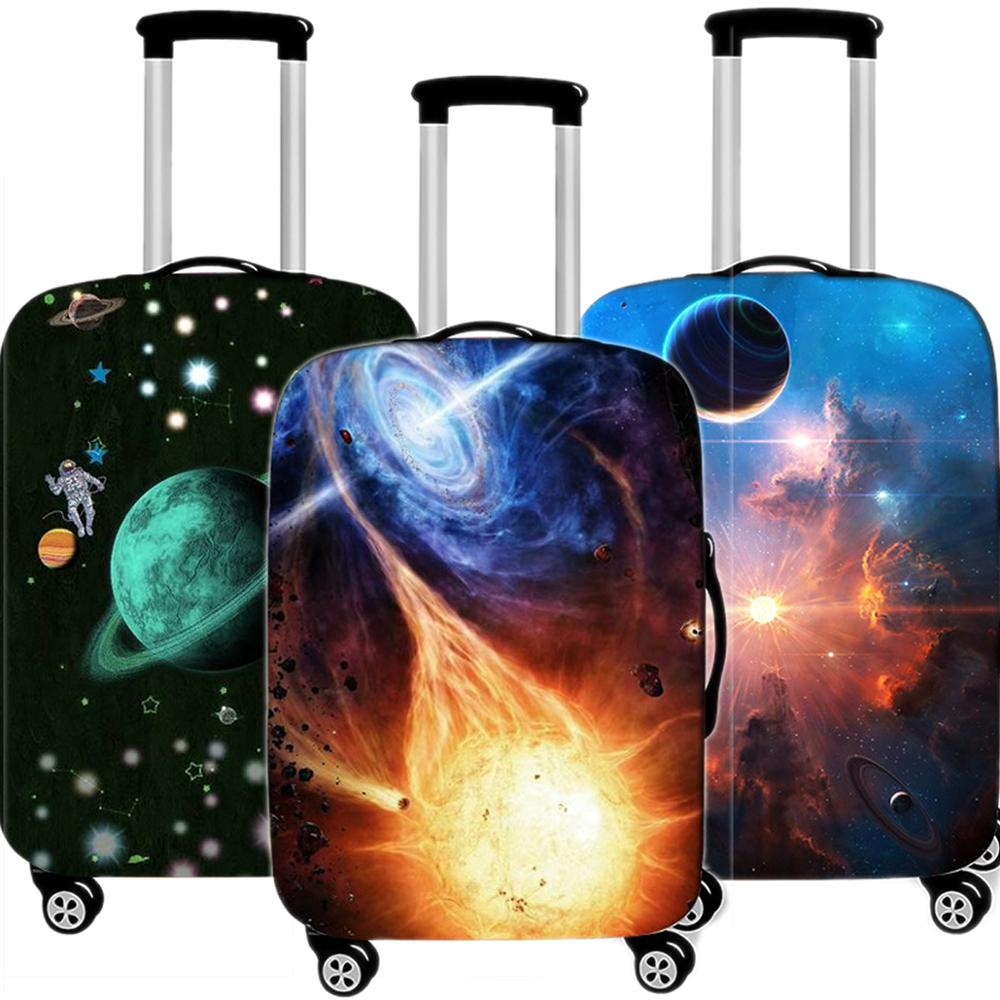 Travel Accessories Creative Astronaut Luggage Case Protective Cover Waterproof Thicken Elastic Suitcase Trunk Case 18-32 Inch XL