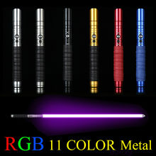 11 Color change Lightsaber toy Metal Sword RGB Laser Cosplay Boy Gril Toy Flashing Kids Gift Light Outdoor Creative Wars Toys