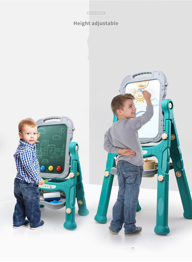 Gift Kids toys Children Removable double sketchpad Boy Girl Creative Black whiteboard toys Height adjustable 360 degree flip