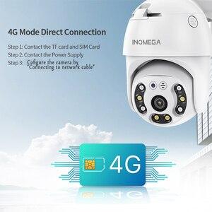 INQMEGA 4G камера WIFI 2MP 1080P PTZ купольная Беспроводная GSM sim-карта IP камера безопасности наружного видеонаблюдения P2P IR ночного видения 30 м