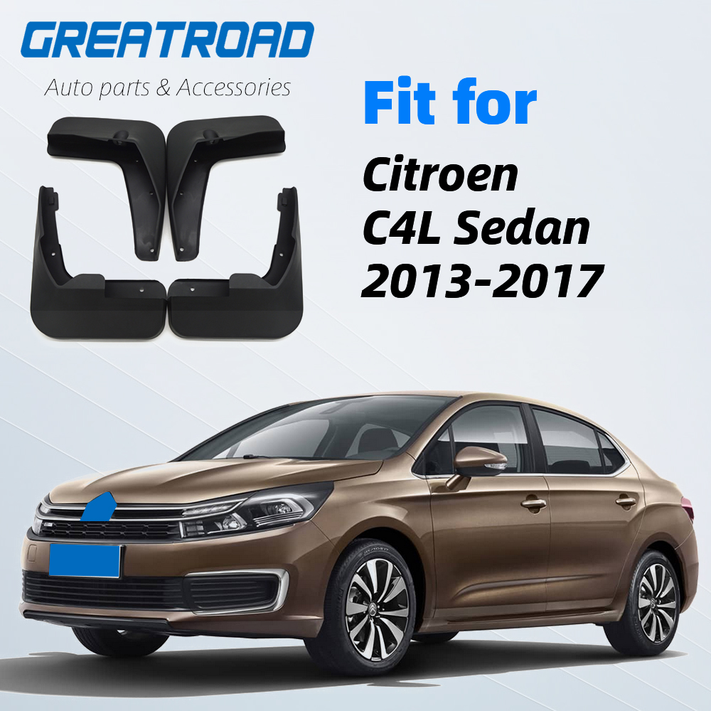 Car Front Rear Mudguards For <font><b>Citroen</b></font> <font><b>C4</b></font> L C4L 2013 2014 2015 <font><b>2016</b></font> 2017 Sedan Accessories Mud Flap 1Set Fenders image