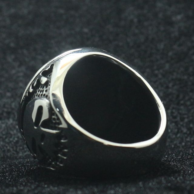 STAINLESS STEEL RIDE TO LIVE – LIVE TO RIDE SKULL RING