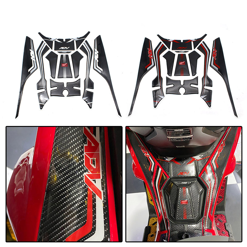 Motorcycle 3D Gel Fuel Tank Pad <font><b>Sticker</b></font> Engine Protection Prevent Scratc Decorative <font><b>Sticker</b></font> Decals <font><b>kit</b></font> For <font><b>Honda</b></font> ADV <font><b>150</b></font> adv150 image