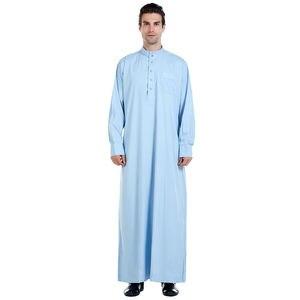 Image 4 - Hommes vêtements Robe à manches longues saoudien arabe Thobe Jubba Thoub homme Daffah caftan moyen orient islamique Thawb Jubba Thobe Robe musulmane
