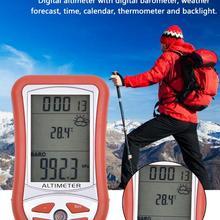 Второе поколение 7-в-1 Ручной Электронный высота метр высотомер термометр уличный барометр для рыбалки инструмент