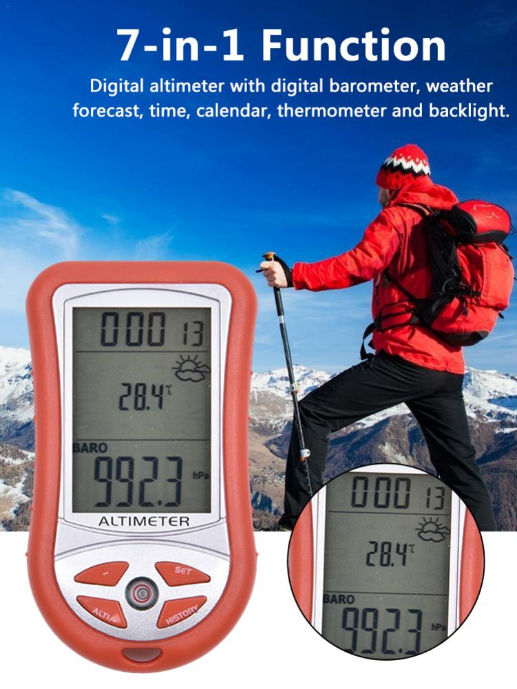 Second Generation 7-in-1 Hand-held Electronic Height Altitude Meter Altimeter Thermometer Outdoor Fishing Barometer Instrument