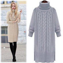 New Mid-long Pullover high-collar sweater in autumn and winter in Europe and America(China)
