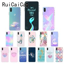 Ruicaica Mermaid Princess pink Conch shell TPU Phone Case Cover Shell for iPhone X XS MAX  6 6s 7 7plus 8 8Plus 5 5S SE XR 10 ruicaica marvel avengers widow hulk iron man spider man film phone case for iphone x xs max 6 6s 7 7plus 8 8plus 5 5s se xr 10