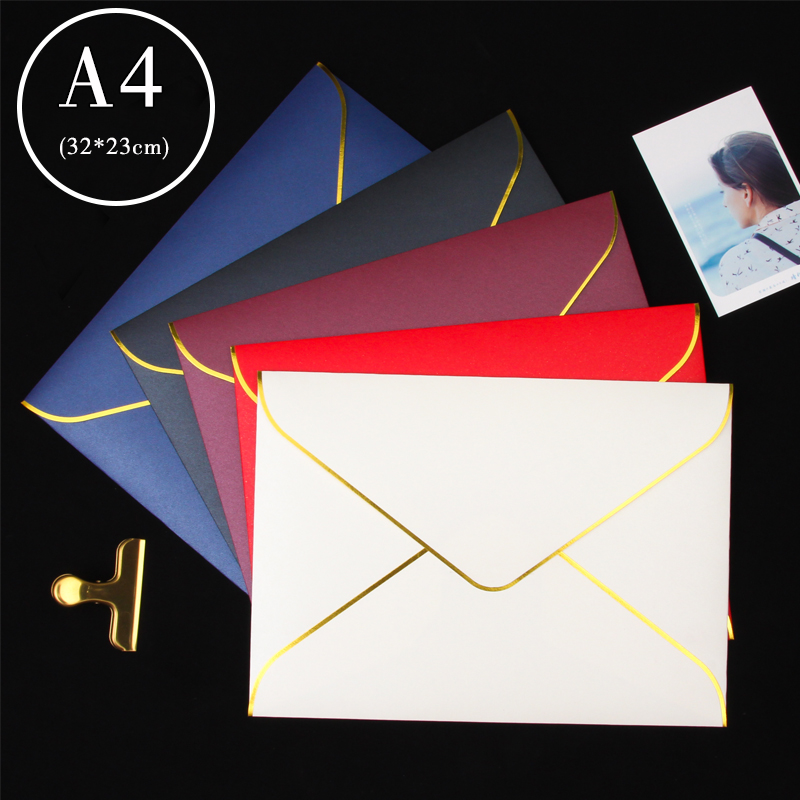 20pcs A4(230mmx320mm) Document Envelopes Business Envelopes #9 Pearl Paper Invitation Letter Envelopes