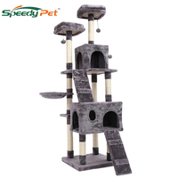 180CM Domestic shipment Multi Level Cat Tree for Large Cats with Cozy Perches Stable Cat climbing frame Cat scratch board toys