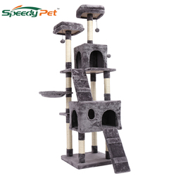 180CM Domestic shipment Multi-Level Cat Tree for Large Cats with Cozy Perches Stable Cat climbing frame Cat scratch board toys
