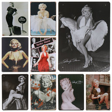 Get more info on the 30X20cm Plates Wall Decor Vintage Tin Signs Pub Bar Decorative Tintin Metal Home Plaque Sign Movie Celebrity Sexy Beauty H64