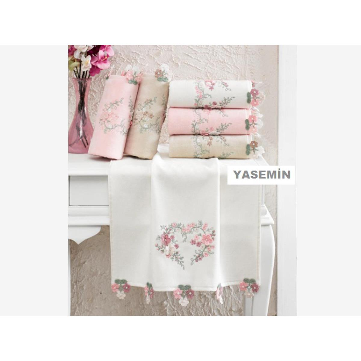 Velvet In Jasmine Embroidered Embroidered Hand Face Towel Cream To Rank First Among Similar Products