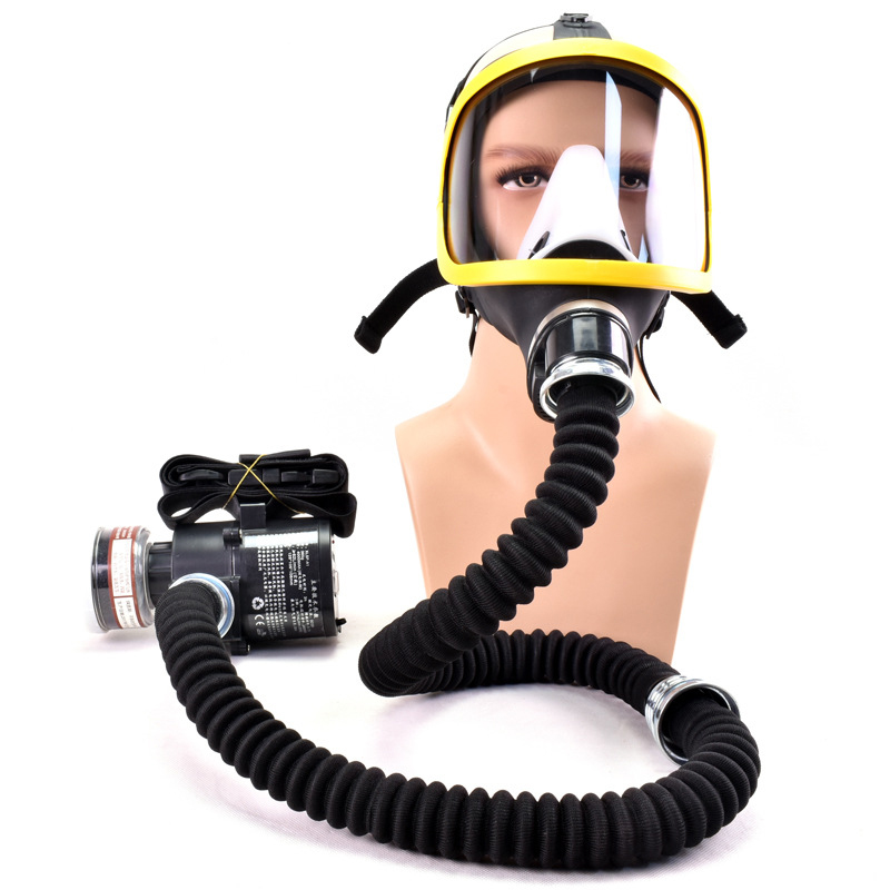 Electric Air Supply Respirator Constant Flow Face Cover Anti-Gas Dust Protection J99Store