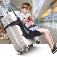 1 ~ 5 방수 아기 휴대용 접이식 여행 캐리어 어린이 유아 가방 좌석 수하물 의자 여행 좌석 어린이위한