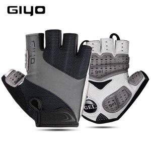 Image 2 - GIYO אופניים כפפות חצי אצבע כפפות חיצוני גברים נשים נוסף ג ל כרית לנשימה MTB מרוצי כביש רכיבה רכיבה על אופניים כפפות DH