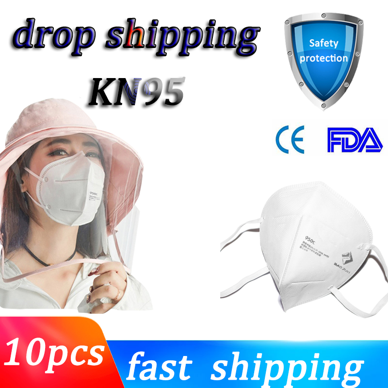 1/50pcs FFP2 N95 Mask Proof Anti 6 Layers Anti PM2.5 Safety Dust Mask Face Masks Particulate Mouth Respirator