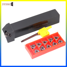 10 pieces 16ER AG60 AG55 threaded inserts + 1 PC SER1212H16 12mm 16mm 20mm 25mm tool holder with key for lathe turning tool