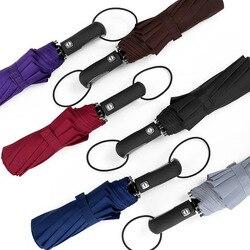 Kreatywny w pełni parasol automatyczny sprzedaż hurtowa 10 kości jednolity kolor trzykrotnie parasol podwójna bardzo duży biznes składane parasol| |   -